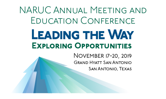 logo for NARUC Annual Meeting and Education Conference November 17-20 2019 San Antonio Texas